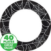 Spider Web Value Halloween Plates & Tableware