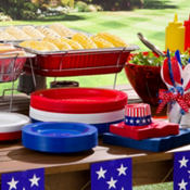 Patriotic Chafing Dishes & Aluminum Pans
