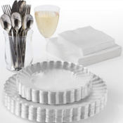 Clear Premium Scalloped Tableware