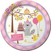 Woodland Girl 1st Birthday Party Supplies