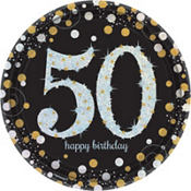 Sparkling Celebration 50th Birthday Party Supplies