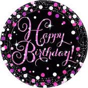 Pink Sparkling Celebration Happy Birthday Party Supplies