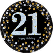 Sparkling Celebration 21st Birthday Party Supplies