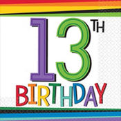 Rainbow 13th Birthday Party Supplies