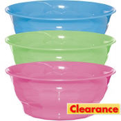 Plastic 12in Summer Large Bowl Asst.