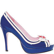 Blue Sailor Peep-Toe Shoes