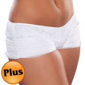 White Ruffled Boyshorts Plus Size