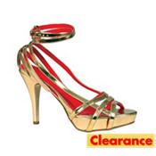 Gold High Heel Sandals