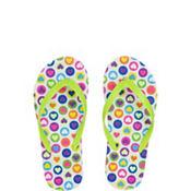 Child Neon Hearts Flip Flops