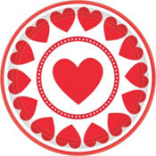sweet love valentines day lunch plates 8ct
