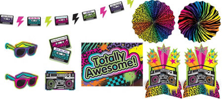 Totally 80s theme party supplies party city for Decoration 80 s
