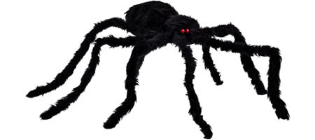 quick shop poseable furry spider - Halloween Spider