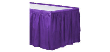 Purple Plastic Table Skirt