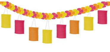 Floral Paradise Warm Lantern Garland
