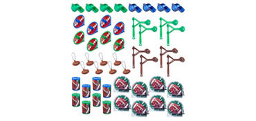 Football Favor Value Pack with 48 pieces