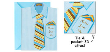Premium Shirt & Tie Invitations 8ct