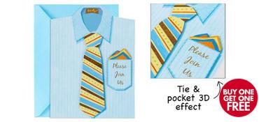Premium Shirt & Tie Invitations 8ct