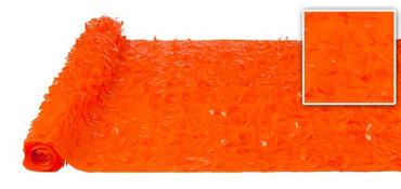 Orange Vinyl Floral Sheeting 15ft