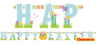 Happy Easter Large Letter Banner