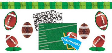 Personalized Football Decorating Kit 8pc