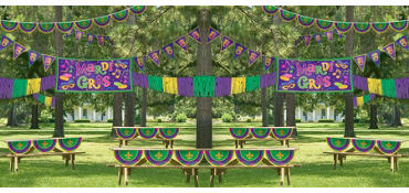 Mardi Gras Outdoor Decorating Kit 4pc