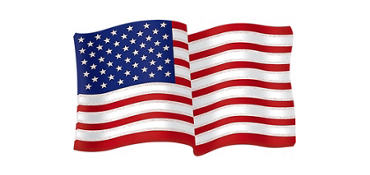 Glitter 3D American Flag Decoration