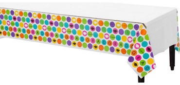 Colorful Commencement Plastic Table Cover