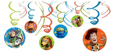 Green Toy Story Swirl Decorations 12ct