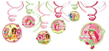 Strawberry Shortcake Swirl Decorations 12ct