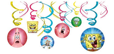 SpongeBob Swirl Decorations 12ct