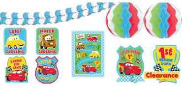 1st Birthday Cars Room Decorating Kit 10pc