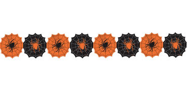 Spider Paper Garland 8ft