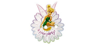 Premium Glitter Tinker Bell Invitations 8ct