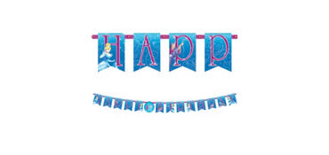 Cinderella Birthday Banner 10 1/2ft