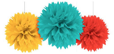 Fiesta Fluffy Decorations 3ct