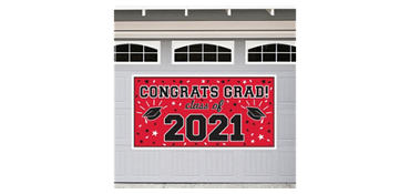 Red 2013 Graduation Banner 65in