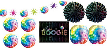 Disco Fever Room Decorating Kit 10pc