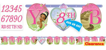 Princess and the Frog Birthday Banner 10ft