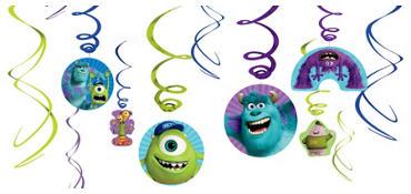 Monsters University Swirl Decorations 12ct