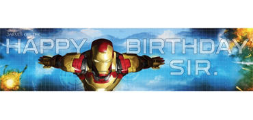 Iron Man Birthday Banner 5ft