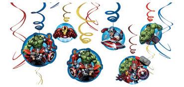 Avengers Swirl Decorations 12ct