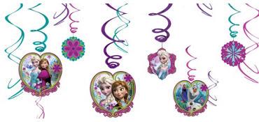 Frozen Swirl Decorations 12ct