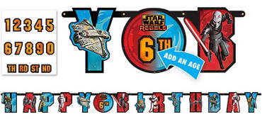 Star Wars Rebels Birthday Banner