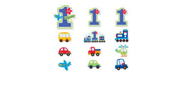 All Aboard 1st Birthday Cutouts 3ct