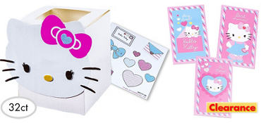 Bright Hello Kitty Valentine Exchange Cards 32ct
