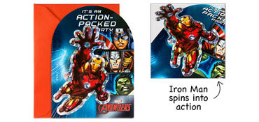 Premium Prismatic Avengers Invitations 8ct