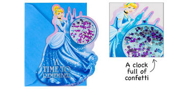 Premium 3D Cinderella Invitations 8ct
