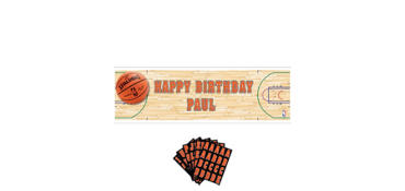 Giant Spalding Basketball Personalized Banner Kit