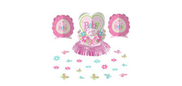 Welcome Baby Girl Baby Shower Table Decorating Kit 23pc