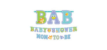 Woodland Baby Shower Letter Banners 2ct